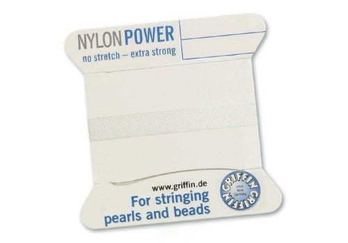 White: Griffin nylon beading thread