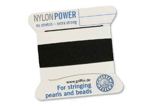 Black: Griffin nylon beading thread
