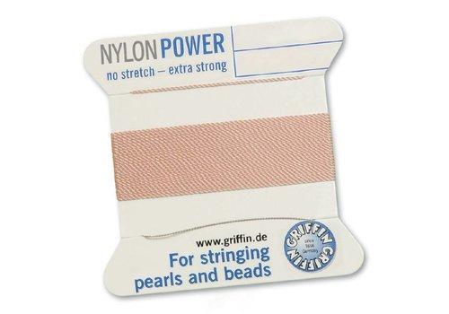 Light pink: Griffin nylon beading thread