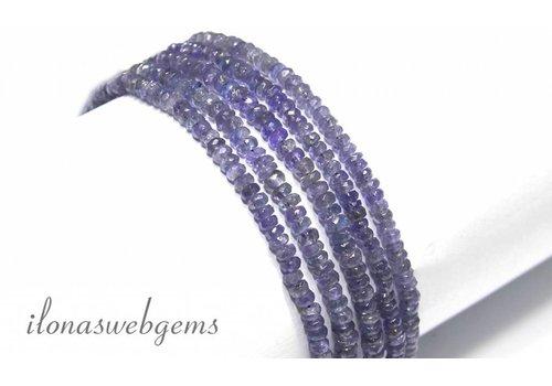 Tanzanite beads facet roundel around 4.5x2.5mm