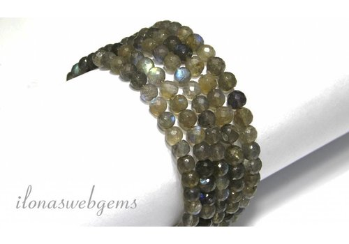 Labradorite beads faceted round app. 7mm