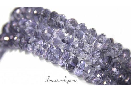 Mystic Quartz Beads faceted roundel app. 8x3-5mm