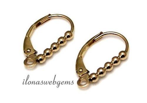 1 pair of 14 carat gold earring hooks