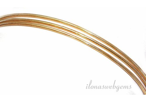 French Wire / Bouillon wire rose gold plated (medium)