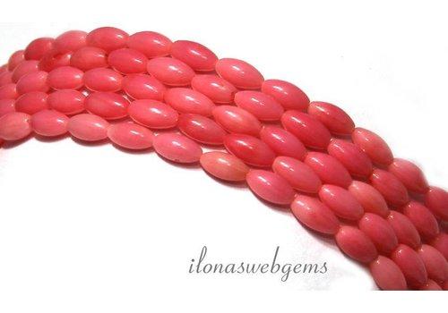 Koraal kralen roze ca. 6.5x3.5mm