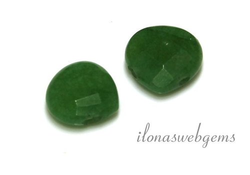 1 paar Jade druppels facet