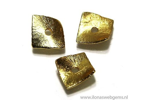 15 pcs gold plated chips approx 8x8mm