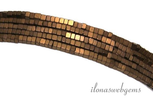 285 stuks Hematiet kralen mini brons ca. 1.4mm