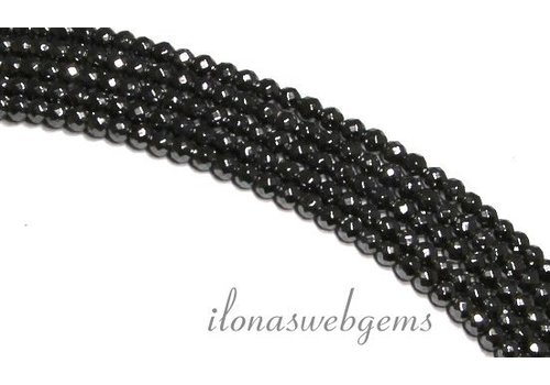 Hematite Beads faceted mini round about 2mm