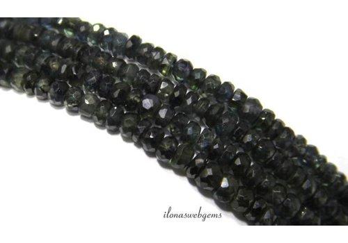 Sapphire Perlen Rondelle facettierten mini über 3.5x2mm