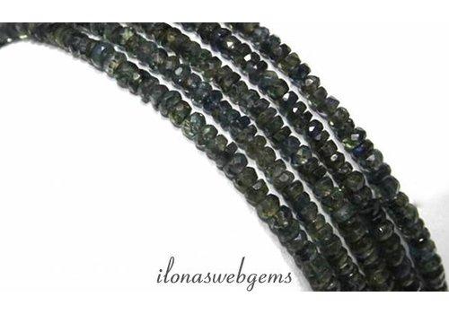 Saphir Perlen Facette Rondelle ca. 3x2mm