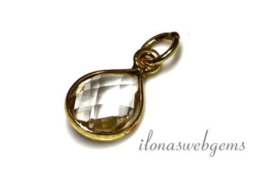 Vermeil pendant with Rhinestone