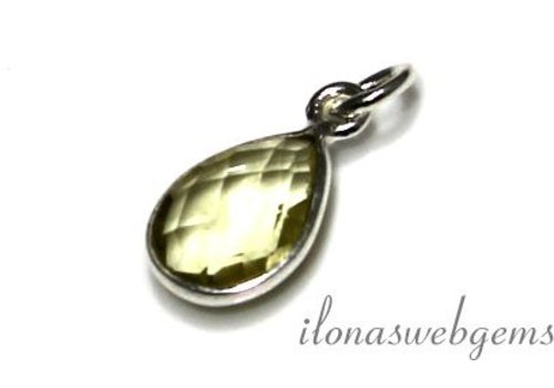 Sterling silver pendant with Lemon Quartz