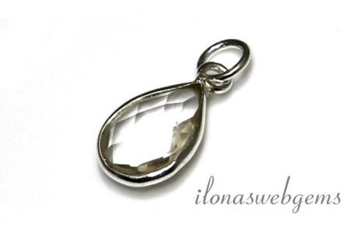 Sterling silver pendant with rock crystal