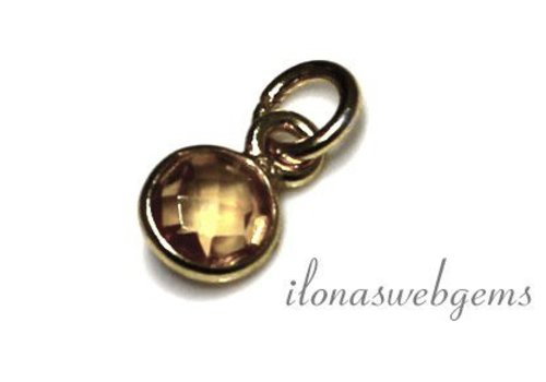Vermeil pendant with citrine around 6mm