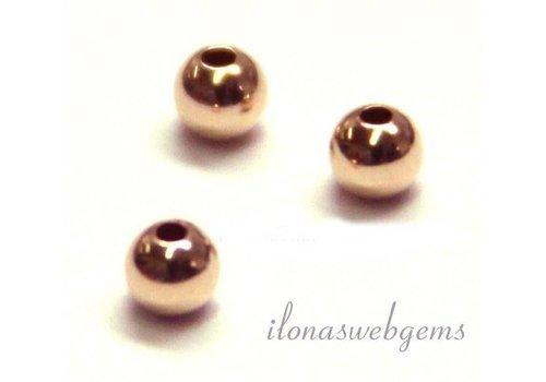 14 Karat Roségold Perle 4mm Licht