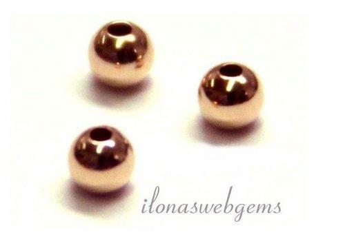14 carat rose gold bead 6mm light