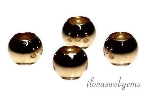 14k / 20 Gold gefüllt Perlen etwa 8mm
