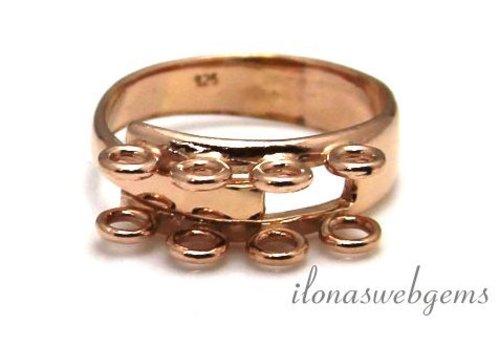 Rosé Vermeil ring met 8 oogjes