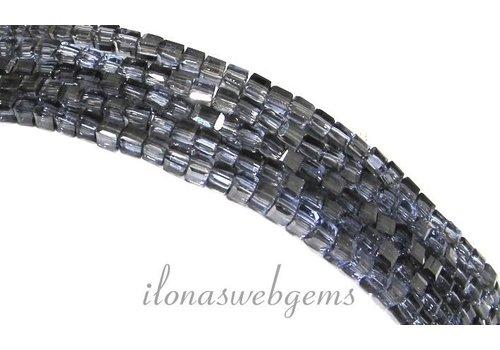 Kristal kralen kubusjes Montana (Swarovski Style) ca. 2.5mm