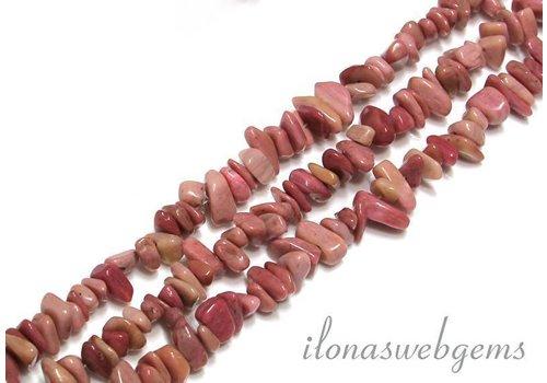 Rhodonite beads split approximately 7mm