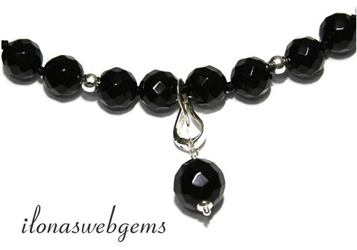 Onyx inspiration knotted necklace