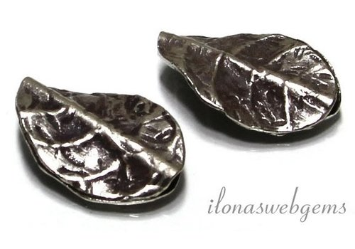 Hill tribe sterling silver bead leaf