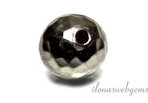 Hill tribe sterling silver bead hammered