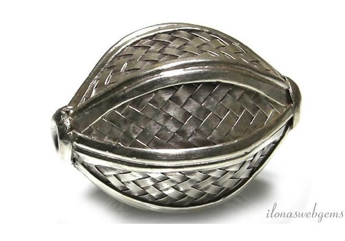 Hill Stamm Sterling Silber Perle ca. 51x32mm