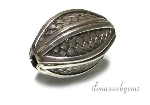 Hill Stamm Sterling Silber Perle ca. 40x24mm