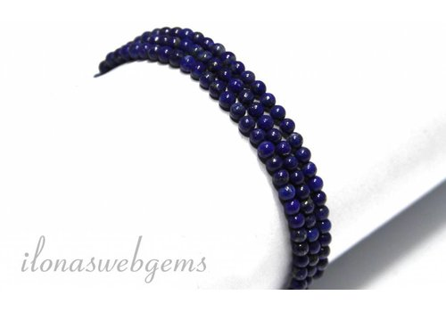 Lapislazuli Perlen etwa 3,5 mm