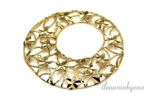 1 piece Vermeil pendant micro fusion