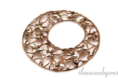 1 piece Rose Vermeil pendant micro fusion