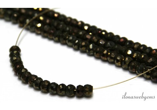 1cm Pyrite beads facet roundel approx 5x4mm