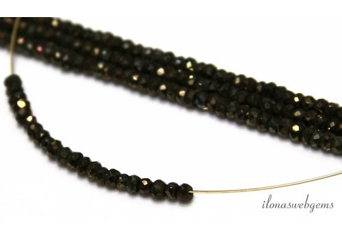 Pyrite beads facet roundel about 3,5x2mm