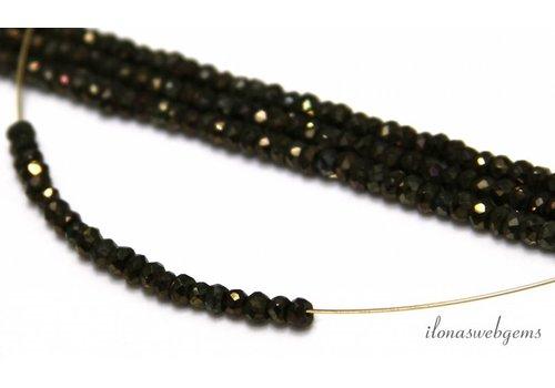 1cm Pyrit Perlen Facette Rondelle über 3,5x2mm