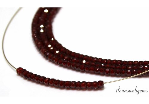 1cm Zircon faceted roundel beads about 3x2mm