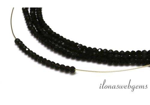 1cm Dunkle Rauchquarz (Morion) facettiert Perlen um etwa 3 mm