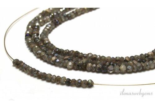 1cm labradorite Perlen Facette Rondelle über 4x2.5mm
