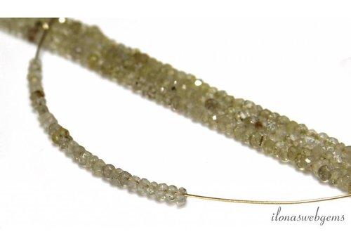1cm Rutielkwarts facettierte Rondelle Perlen über 3x2mm