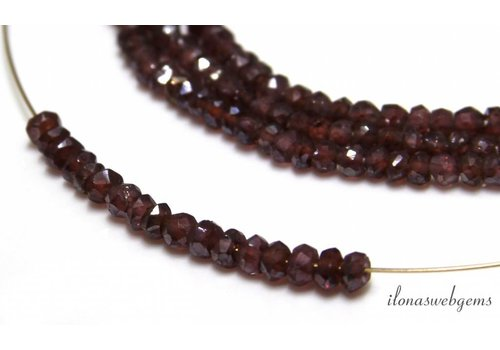 Granat Perlen Facette Rondelle ca. 3x2mm