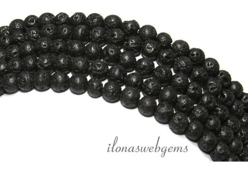 Lava stone beads 5mm