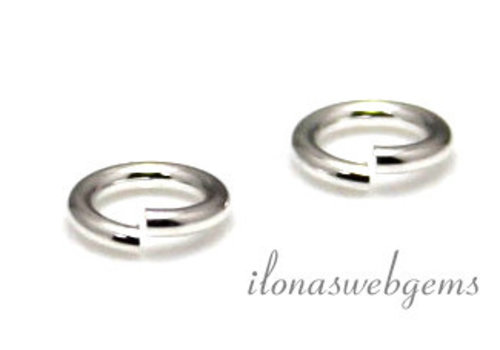 1x Sterling silver lock-in eye approx. 5x0.9mm