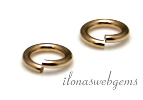 Gold filled lock-in eyelet ca. 6x1mm