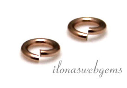 Rosé 14k/20 Gold filled lock-in oogje ca. 4x0.75mm