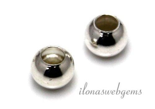 Sterling Silber Perle 8mm mit Perlen mit großem Loch