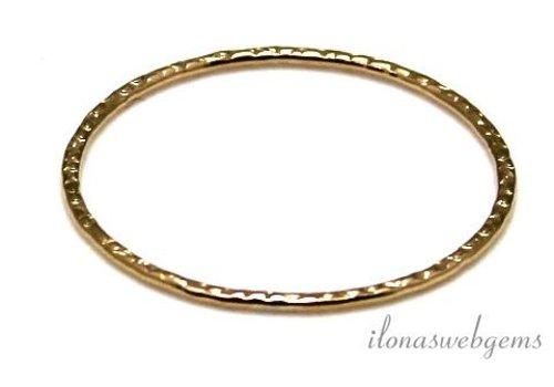 14k/20 Gold filled gesloten ring bewerkt ca. 25x1mm