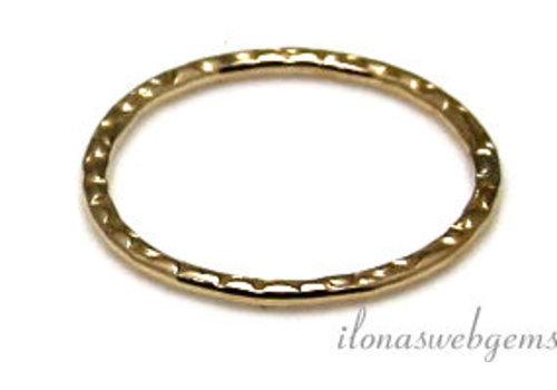 14k/20 Gold filled gesloten oog/ring bewerkt ca. 14x1mm