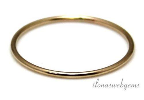 14k/20 Gold filled gesloten oog/ring ca. 21x1mm