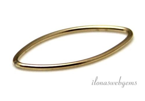 14k / 20 Gold filled closed eye approx. 20x10x1mm